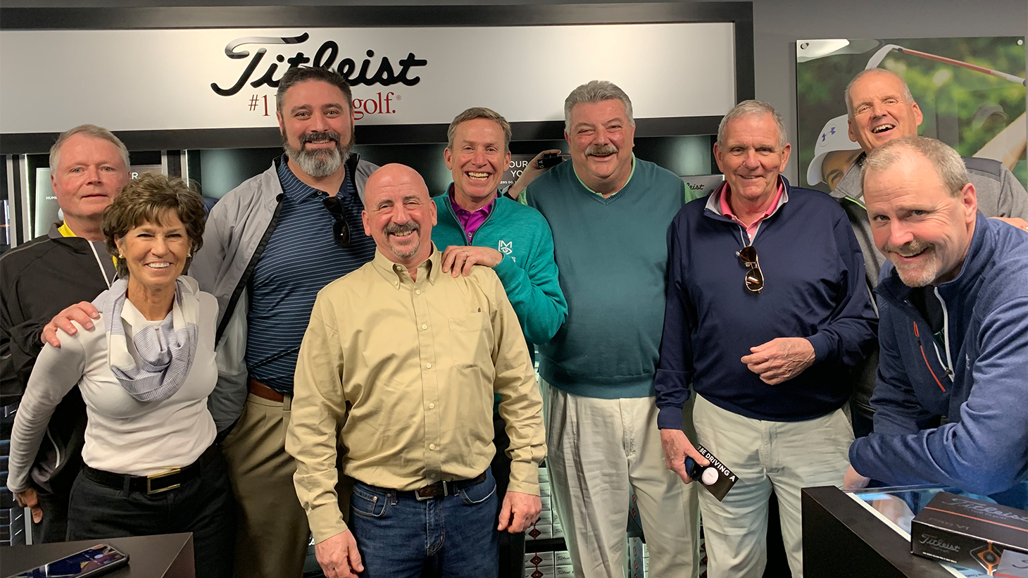 Team Titleist members on a tour of BP3 tour...