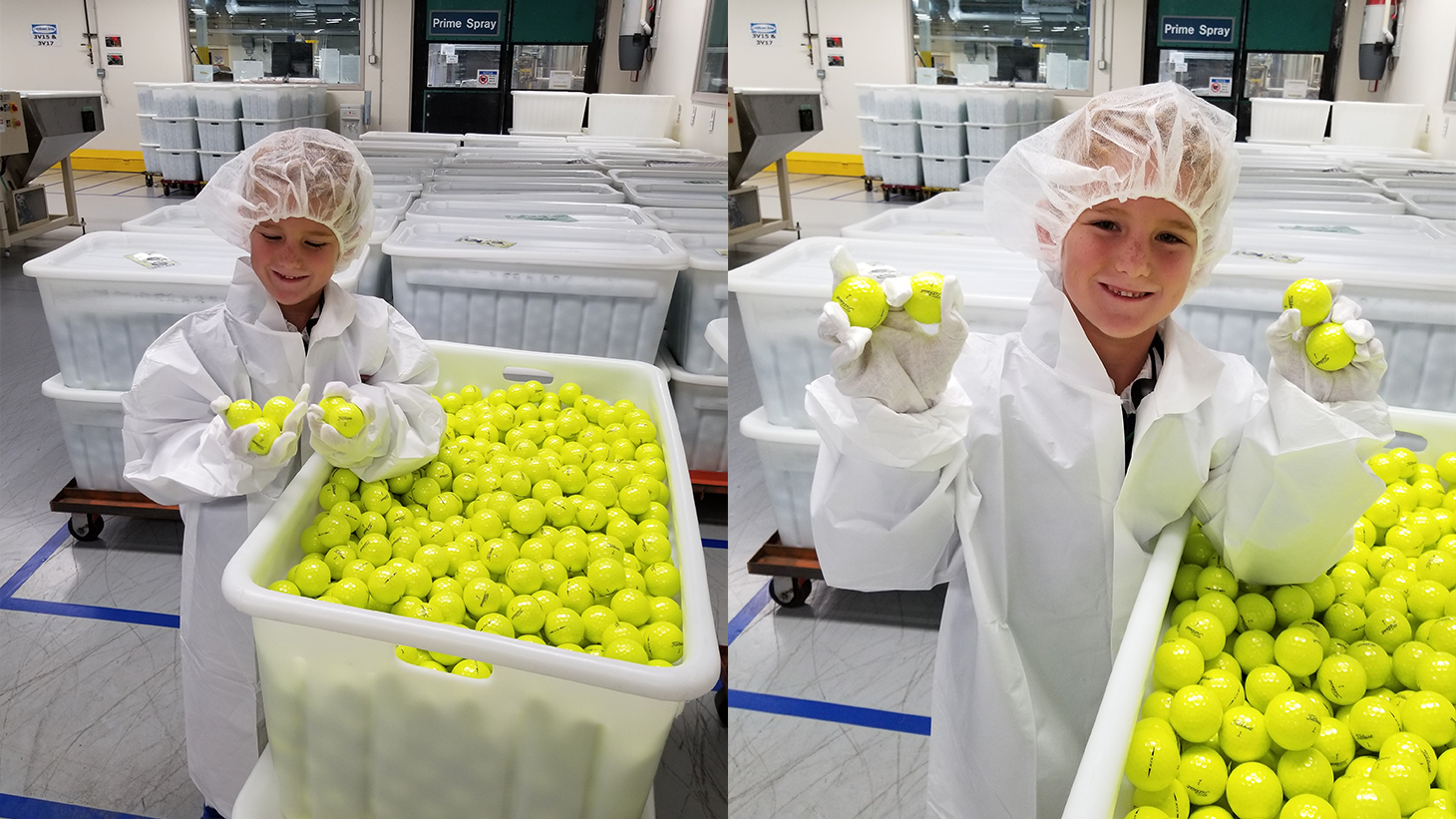 Chase Howell at Titleist Ball Plant 3