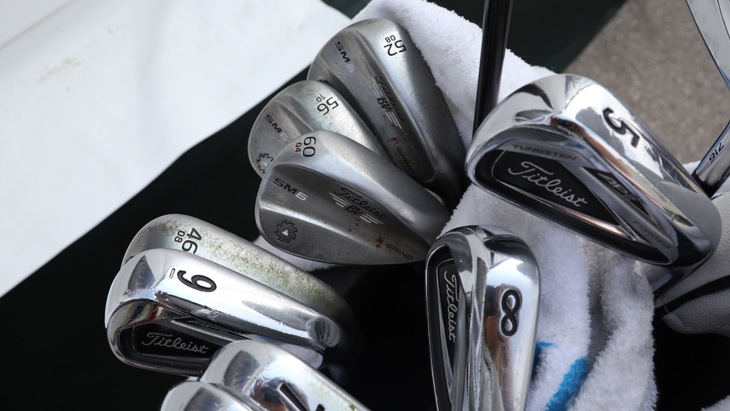 Here are the AP2 irons and Vokey SM6 wedges that...