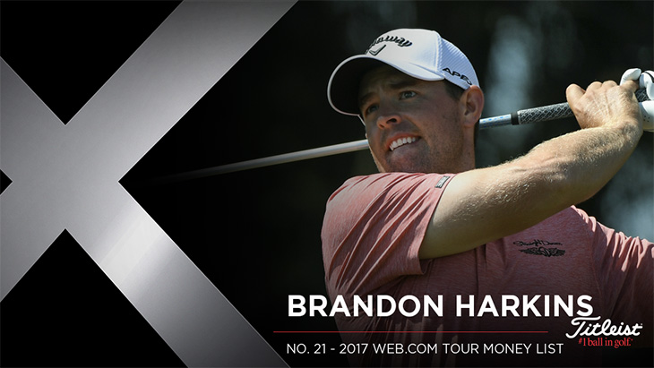 Titleist Pro V1x loyalist Brandon Harkins recorded...