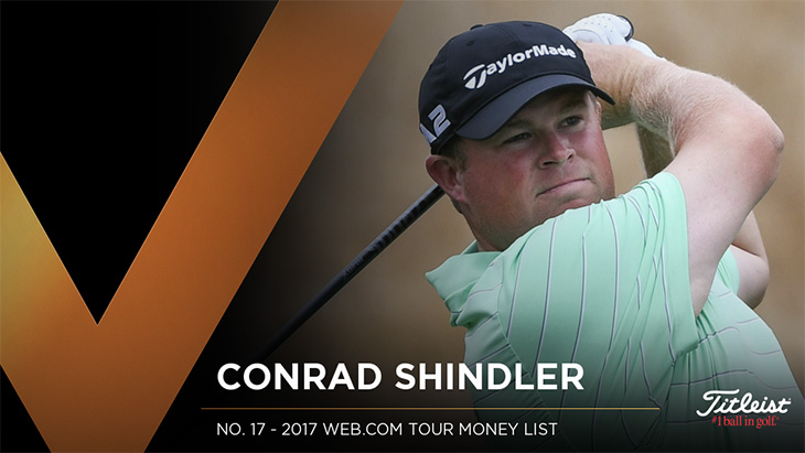 Titleist Pro V1 loyalist Conrad Shindler recorded...