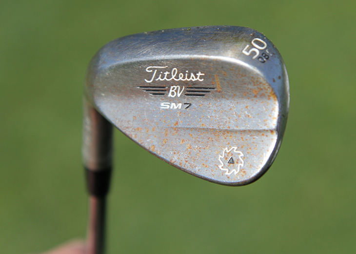 For his gap wedge, Brian carries a 50.08 F grind....