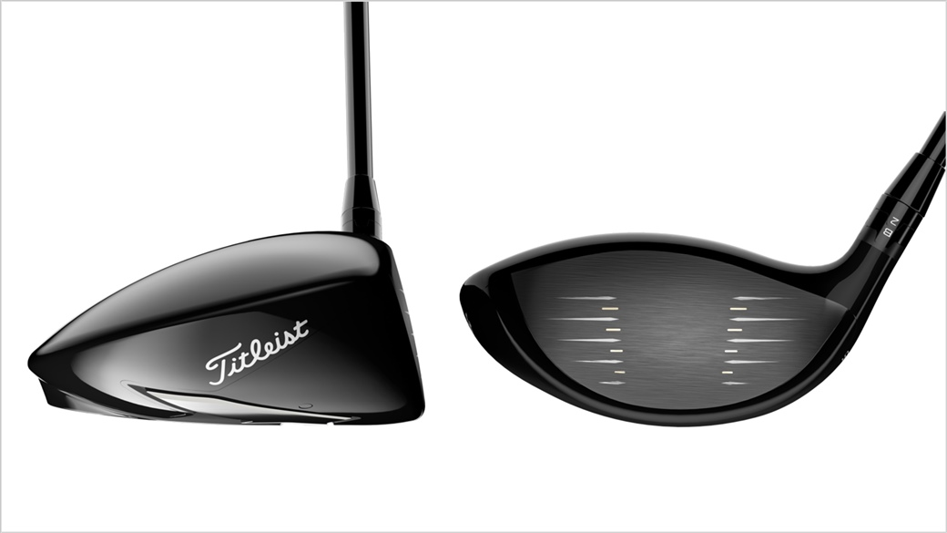 Side by side photo showing the toe and face of the new Titleist TS1 driver