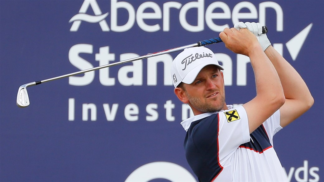 Bernd Wiesberger tees off on a par-3 at the 2019 Scottish Open with a Titleist 718 CB 6-iron.