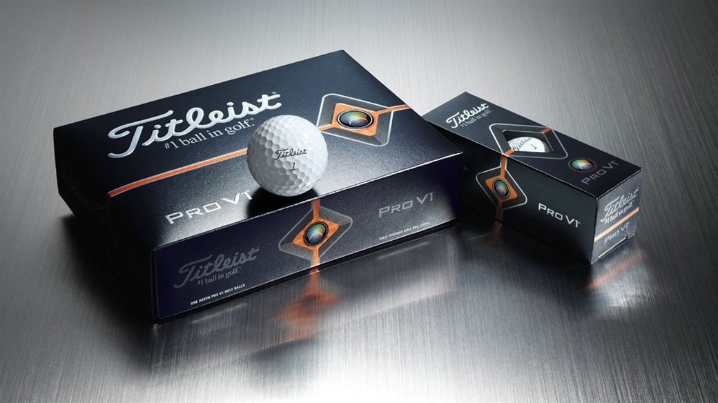 Titleist 2019 Pro V1 golf ball dozen, 3-ball sleeve and single golf ball image