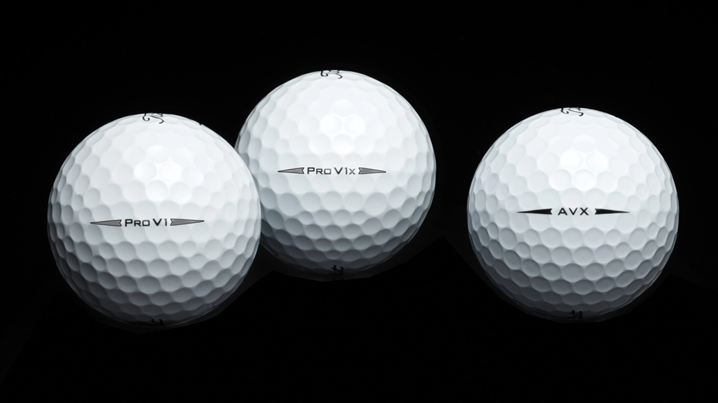 Single golf ball images of Titleist Pro V1, Pro V1x and AVX