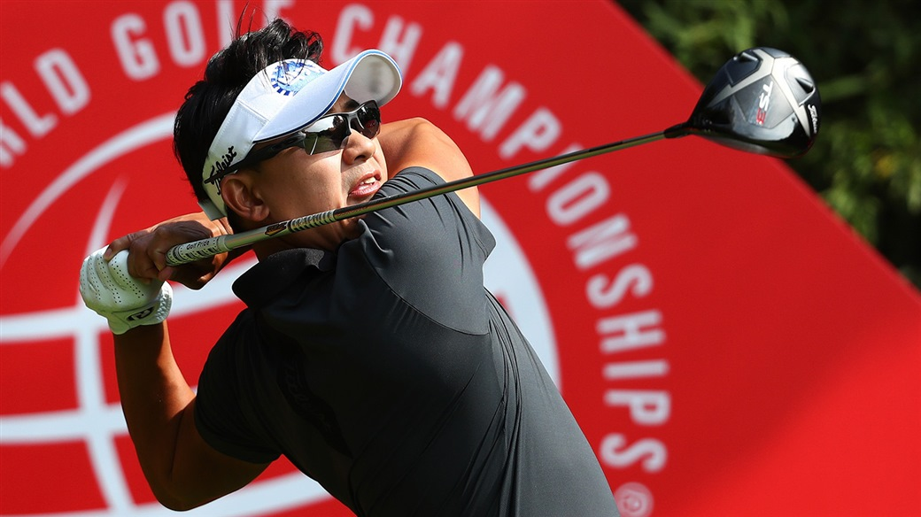 Sang-Hyun Park tees off with his Titleist TS3 driver during action at the WGC-HSBC Champions