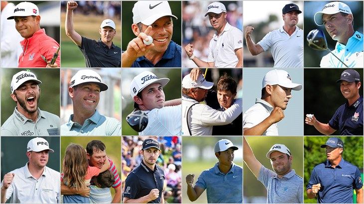 Collage Photo of Tournament Winners from the 2018-2019 PGA TOUR season who relied on a Titleist golf ball for their success