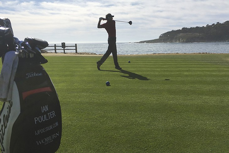 The #1 ball at the AT&T Pebble Beach Pro-Am