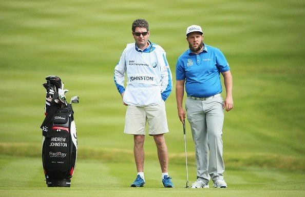 Caddy for Andrew 'Beef' Johnston at The BMW PGA Championship Pro-Am